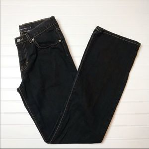 Calvin Klein Black Cotton Bootcut Boot Leg Jeans